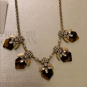 Jcrew statement crystal tortoiseshell necklace